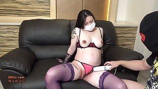 Nasty Pregnant Milf Sharp practice Japanese Individual