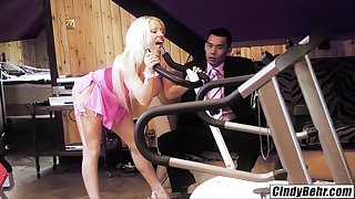 Cindy Behr Asian dick Keni Styles spinner rides as if machine cum on face