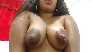 Sherezade milks their way tits and masturbates - Latina in lactation fetish