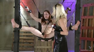 Nude and dutiful redhead gets punished for being a deleterious slut