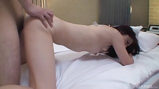 Full doggy leaves the scrawny Asian mature totally satisfied