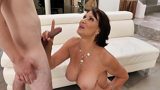 Dirty mature Vanessa Videl opens her legs to be fucked balls deep