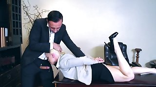 Rough business meeting to end with porn for Nikki Delano