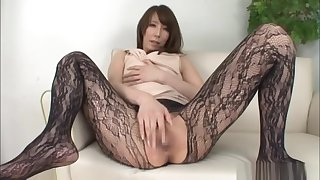 Savory Japanese unescorted girl masturbation action