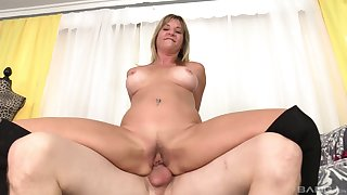 Amateur with big tits works magic with the pussy and mouth