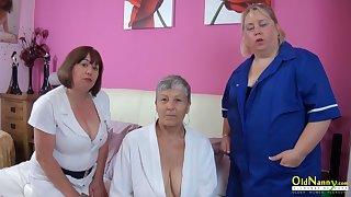 OldNanny Trisha and Lexie and Savana, lesbians in bit