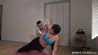 Grown up woman Shay Xanthippe does yoga plus gets fucked in her asshole